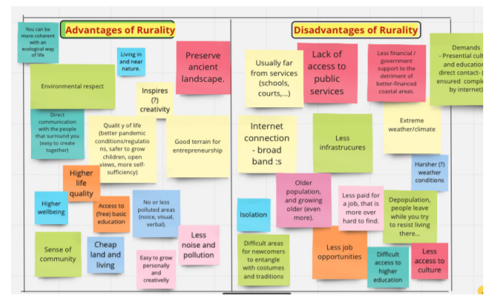 advantages disadvantages rurality